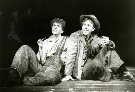 "Daniel H. Jenkins (left) and John Short in ""Big River: The Adventures of Huckleberry Finn,"" in New York in 1985, the year after it opened at the American Repertory Theater. The play's Broadway success earned money for the ART."